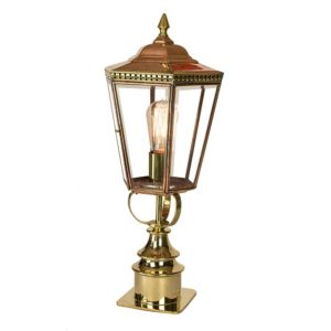 Chelsea short pillar Lantern from Limehouse lighting