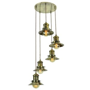Small Edison 5 light cluster by the limehouse lamp co