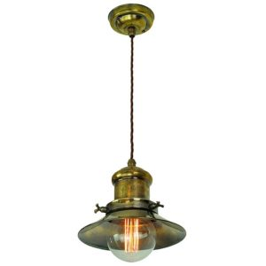 Small Edison single pendant by the limehouse lamp co