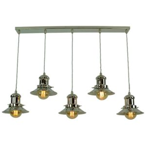 Small Edison 5 light pendant by the limehouse lamp company