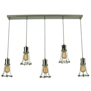 Marconi 5 light pendant by the limehouse lamp co