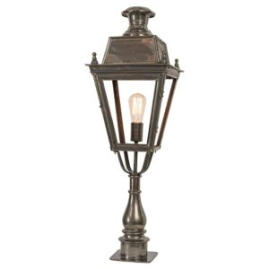 Balmoral Pillar Light with 3 light cluster made by the limehouse lamp company