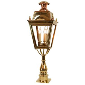 Balmoral Pillar Light with 3 light cluster by the limehouse lamp company