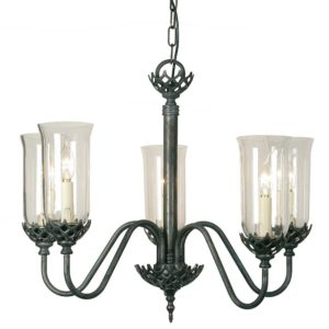 Gothic Five Arm Chandelier from Limehouse lighting