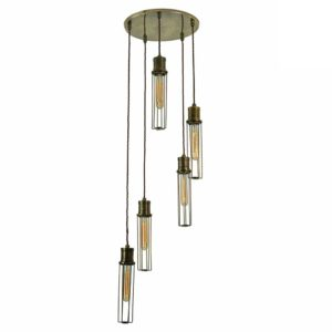 The Alexander 5 light cluster by the limehouse lamp company