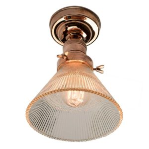 The Prismatic cone flush light by the limehouse lamp co