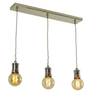 Tommy 3 Light Pendant by the limehouse lamp company
