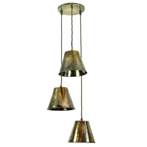 The Map Room 3 Light cluster by the limehouse lamp company