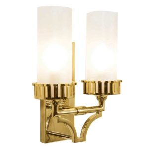 Highlander Twin Wall Light made by the limehouse lamp company