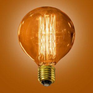 The Ferrowatt Vintage Tesla lamp by the limehouse lamp co